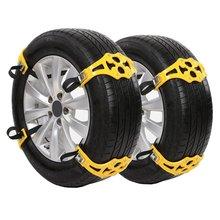 Opona samochodowa zimowe bezpieczeństwo na drodze opona śnieg regulowane antypoślizgowe bezpieczeństwo podwójne zatrzaski skid Wheel TPU Chains tanie tanio Fanxoo