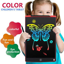 Ultra-Thin Handwriting Pads Children Graffiti Drawing 12 Inch Random LCD Doodle Kids Gift Writing Tablet Writing Board(China)
