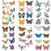WYUEN Watercolor Butterfly Temporary Tattoo Sticker Waterproof Women Fake Tattoos Men Children Body Art Hot Design 9.8X6cm A-001(China)