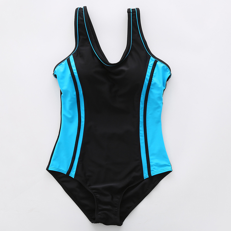 Image 5 - Riseado Swimming Suits for Women Competitive Swimwear Women One Piece Swimsuit 2020 Patchwork Racer Back Bathing Suits    -