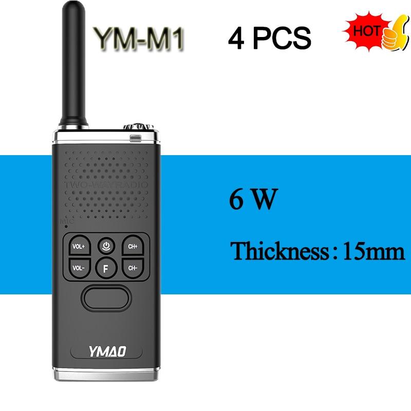 (4PCS) YMAO M1 Handheld Walkie Talkie Portable Radio 6W High Power UHF Handheld Ham Flashlight Radio Communicator HF Transceiver