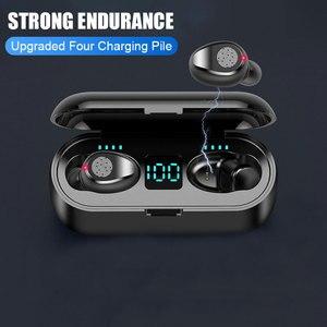 Image 3 - Auricolari Wireless F9 Bluetooth V5.0 TWS auricolare Stereo Auto coppia Sport auricolare potenza auricolare per IOS Android