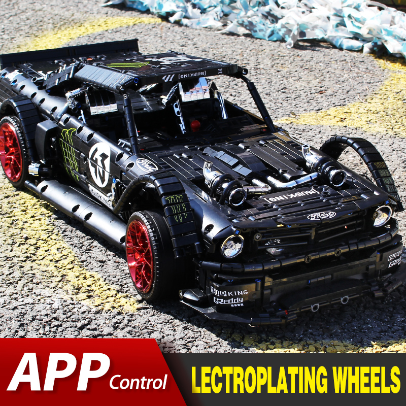 Compatible Legoed Technic Ford Mustang Hoonicorn RTR RC Car MOC-22970 Model Kit Building Blocks Bricks Kids TOYS Christmas Gifts