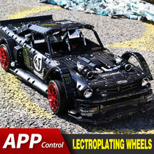 Kompatibel Lepining Technic RC Ford Mustang Hoonicorn RTR V2 Stadt Auto MOC-22970 Led Ziegel Modell Kit Bausteine Kinder SPIELZEUG(China)