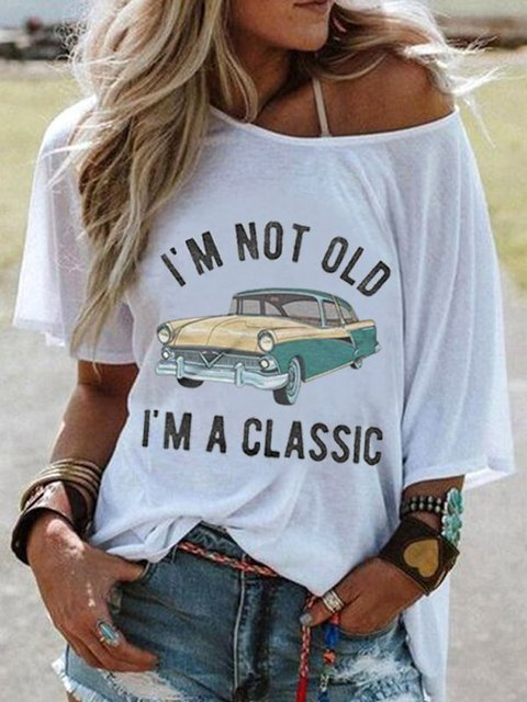 Women's T Shirt Clothes Casual Cartoon Printed Tops Short Sleeve Round Neck Tee T-Shirt Loose Fashion Summer Cloths Ladies New