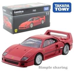 Takara tomy tomica premium 31 ferrari f40 vermelho 1/62 metal molde modelo de carro veículo brinquedos para crianças colecionáveis novo