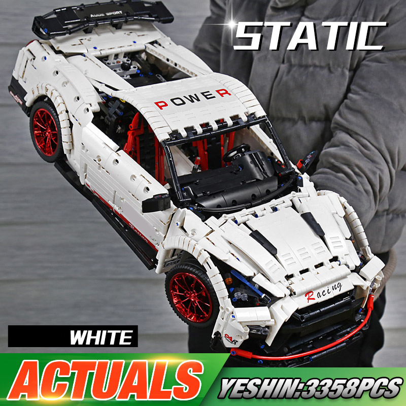 MOULD KING 13172 High-Tech Car The APP Control MOC 25326 White Speed Race Car Assembly Building Blocks