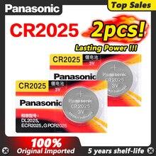 PANASONIC – pile bouton 3v, 2 pièces, pile lithium, pour montre et ordinateur