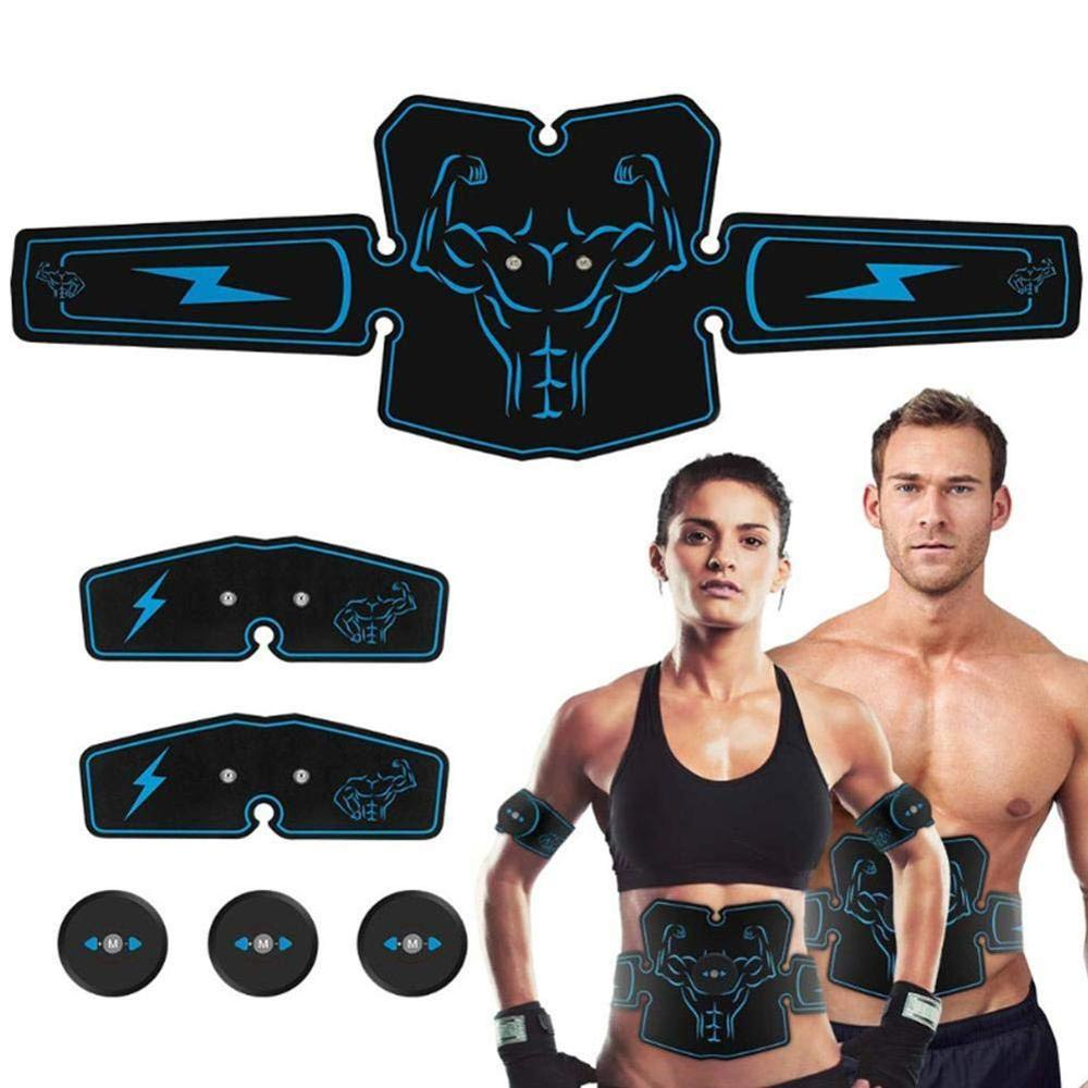 USB Rechargeable Electric Abdominal Muscle Stimulator EMS Abdominal Vibrating Belt ABS Muscular Hip Trainer Massage Home Gym Fit