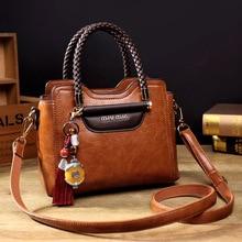 2019 Bolsos De Mujer Vintage para bolso de mano de cuero de Pu bolso de mensajero de mujer bolso de mano bandolera de lujo de diseñador saco AB01