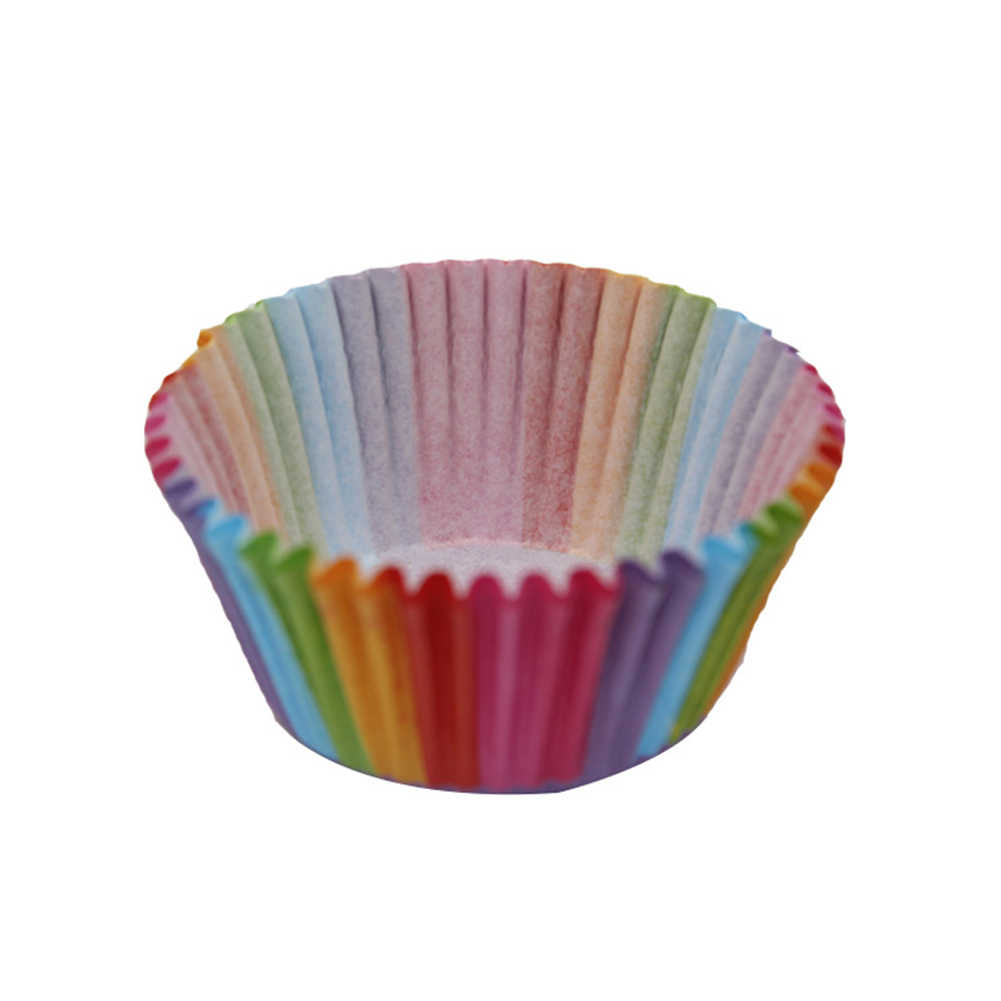 100 Pcs Colorful Cupcake Liner Cupcake Kertas Cangkir Kue Kue Muffin Cetakan Kecil Kotak Kue Piala Tray Alat Dekorasi