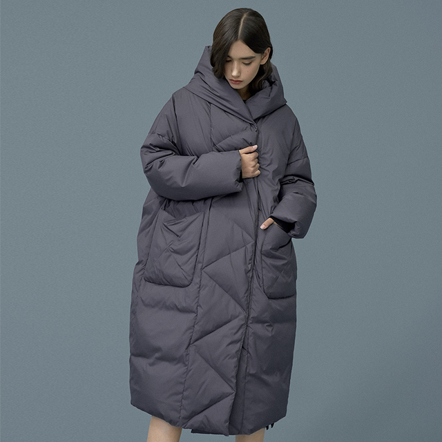 S- 7XL plus size Winter oversize Warm Duck down coat female X-Long Down Warm Jacket Hooded Cocoon style thick warm Parkas F192 2