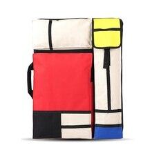 Büyük sanat çantası çizim tahtasında boyama seti seyahat kroki çantası çizim araçları tuval boyama sanat malzemeleri sanatçı için