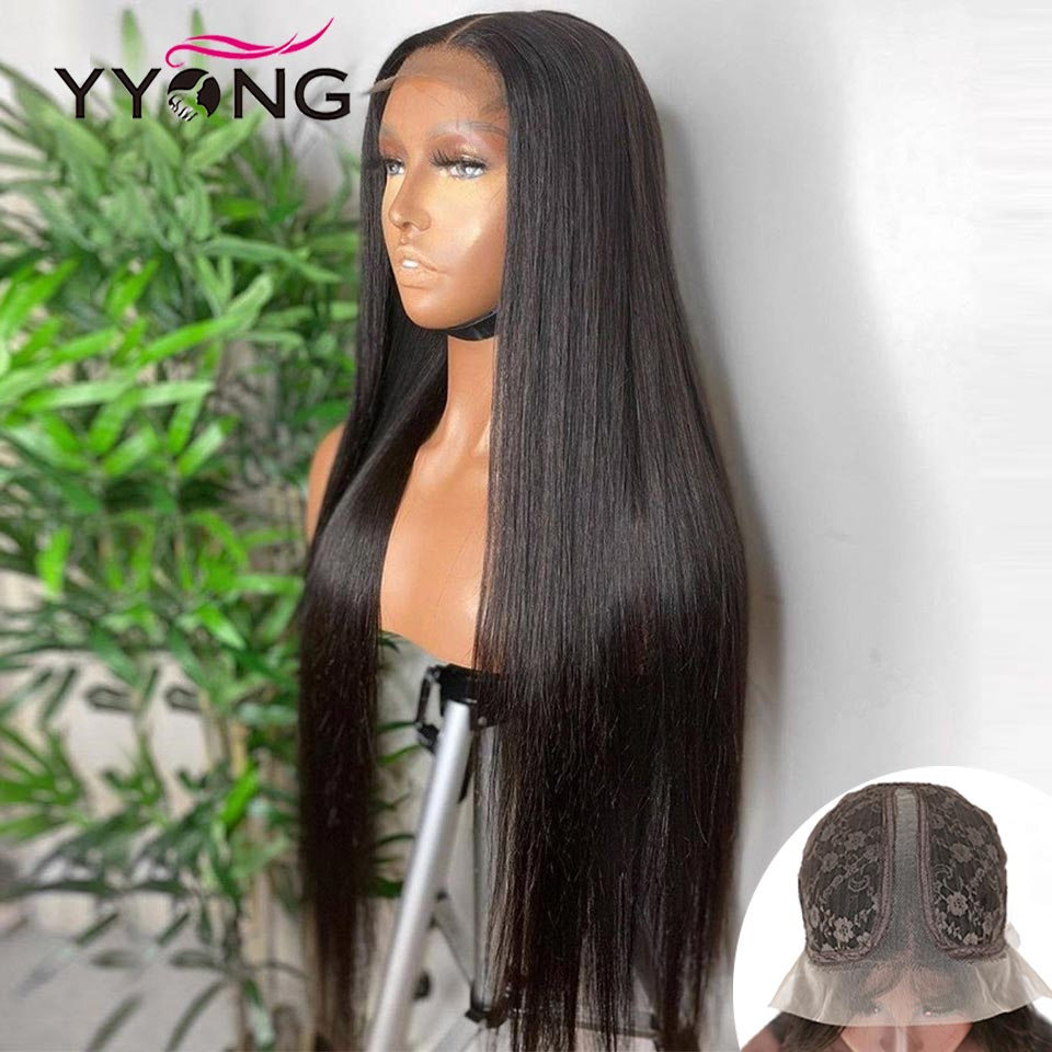 YYong 1x6 T Part Lace Wig HD Transparent Lace  Wig   Straight  Lace Part Wig Pre Plucked 1