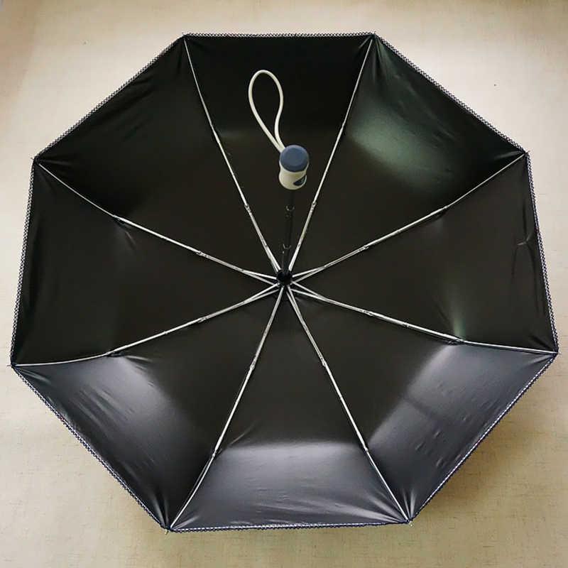 Paraguas compacto Auto cerrado fuerte a prueba de viento de alta calidad Anti-UV para mujeres señoras protección solar paraguas hombres 50rr020