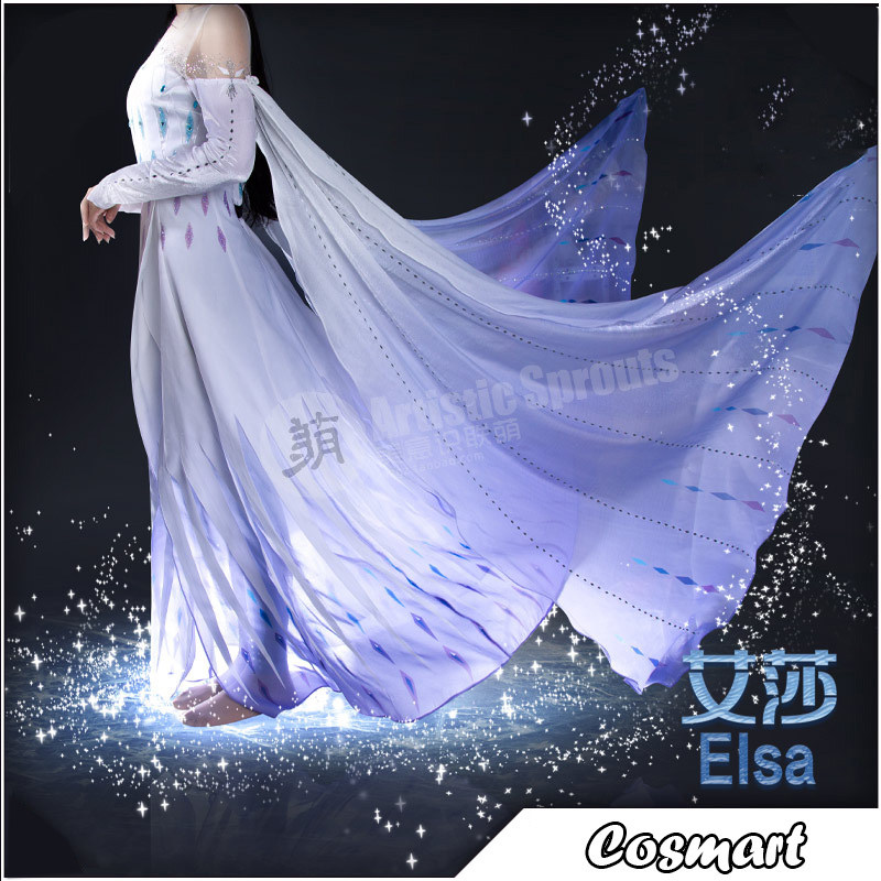 Frozen Cosplay Queen Elsa Cosplay Costume Halloween Costumes For Women Freeship New