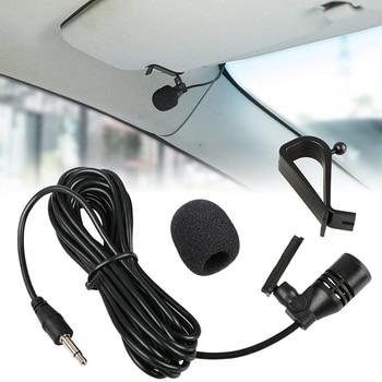 Профессиональный автомобильный аудиомикрофон 3 м, разъем 3,5 мм с зажимом, стерео микрофон, мини проводной внешний микрофон для автомобиля, DVD, радио|Микрофоны|   | АлиЭкспресс