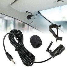 3m profissionais carro microfone de áudio 3.5mm clipe jack plug microfone estéreo mini com fio externo para rádio dvd automático