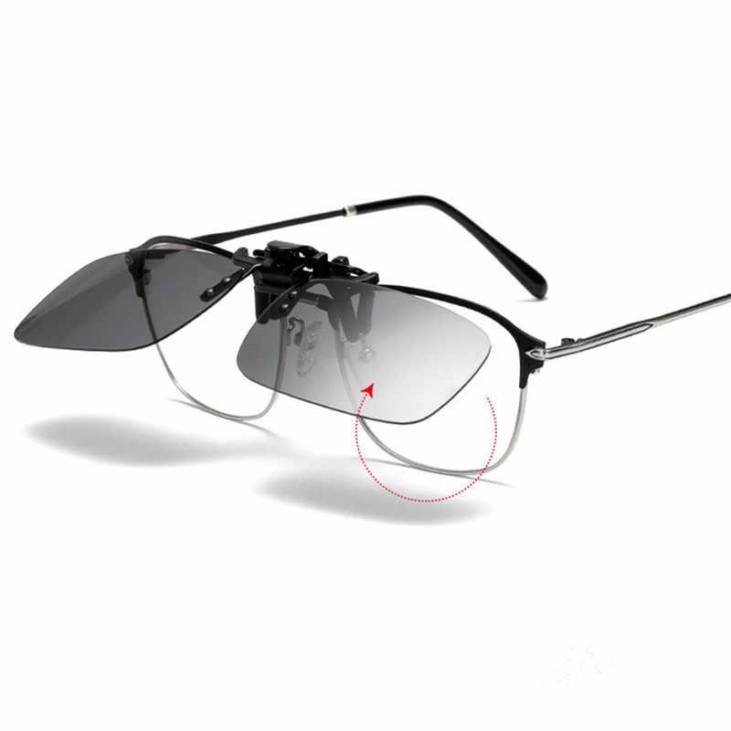 Auto di Notte di Guida Occhiali Polarizzati Clip Su Occhiali Da Sole Occhiali per La Visione Notturna Anti-glare UVA Occhiali da sole del Driver Occhiali Per Gli Uomini delle donne