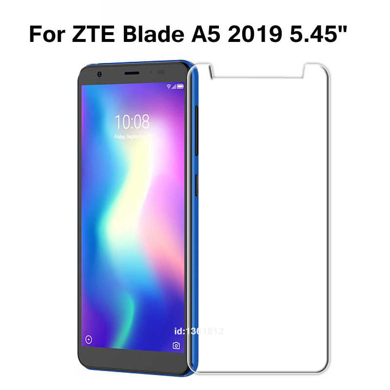 ZTE Blade A5 2019 Tempered Glass 9H High Quality Protective Film Screen Protector Phone Cover Glass For ZTE Blade A 5 2019 5.45""