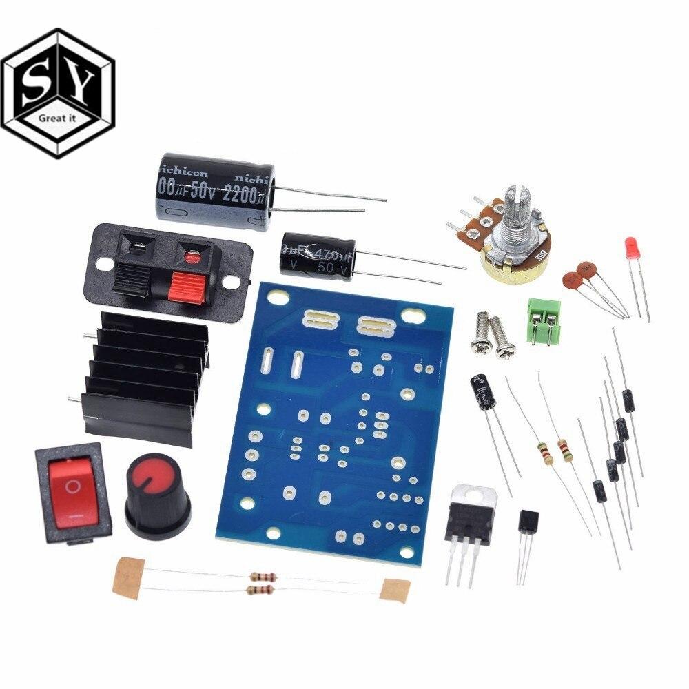 Módulo de fuente de alimentación LM317 DIY, regulador de tensión regulable, fusible reajustable, placa de condensador electrótico