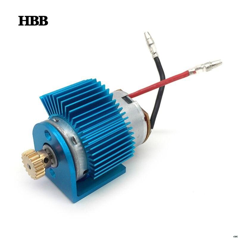 540 Motor + 17T Motor Gear + Motor Radiator For Wltoys 12428 12423 1/12 RC Car Spare Parts