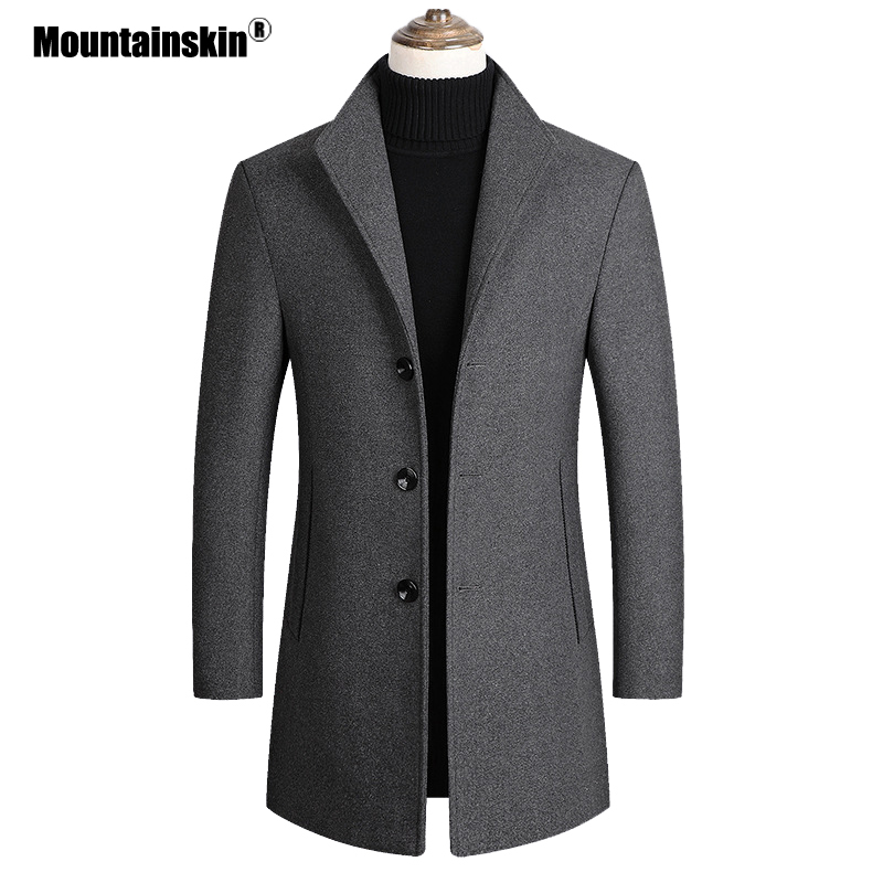 Mountainskin Men Wool Blends Coats Autumn Winter New Solid Color High Quality Men's Wool Jacket Luxurious Brand Clothing SA837 1