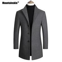 Mountainskin мужские шерстяные пальто осень зима сплошной цвет Высокое качество Мужская шерстяная куртка Роскошная брендовая одежда SA837