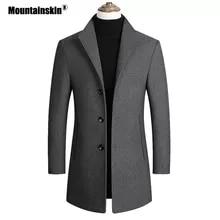 Mountainskin 남자 양모 혼합 코트 가을 겨울 새로운 단색 고품질 남성 양모 재킷 고급스러운 브랜드 의류 SA837