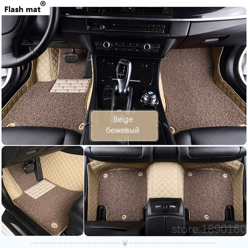 Flash mat Custom car floor mats for <font><b>Chrysler</b></font> <font><b>300C</b></font> Grand Voyager Sebring car styling auto accessories car carpet cover Styling image