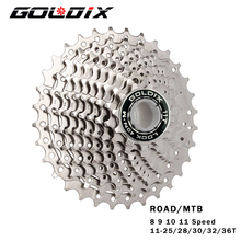GOLDIX Road Bike 8 9 10 11 Speed Velocidade 11-25T/28T/32T/34T/36T Bicycle Cassette Freewheel MTB Sprocket for SHIMANO SRAM