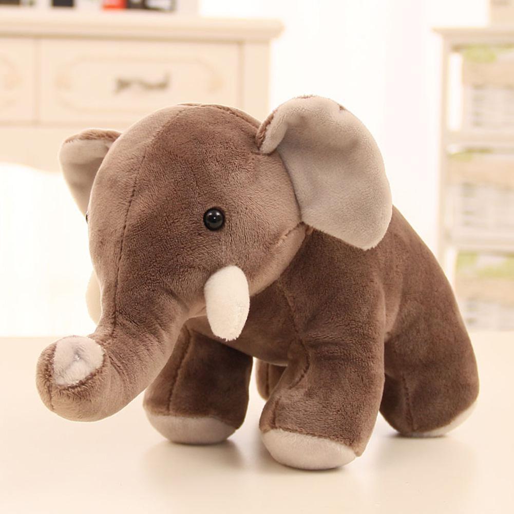 30cm Cute Large Stuffed Plush Toy Simulation Elephant Doll Throw Pillow Birthday Christmas Gift