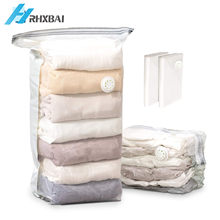 No Pump Needed Vacuum Storage Bags Travel Space Saver Compression SealerBags Home Organizer Package for Clothes, Quilts, Pillow