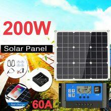 200 Вт Панели солнечные комплект с ЖК контроллер солнечной батареи