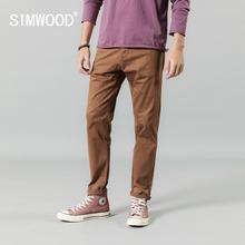SIMWOOD 2020 봄 겨울 바지 남성 인과 고품질 빈티지 씻어 고품질의 브랜드 의류 바지 190453