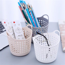 1 Pcs Creative Hollow Office Desktop Storage Box Pen Holder Mini Student Basket Wholesale Debris