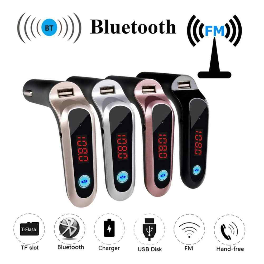 USB TF Card Support Charger Wireless Bluetooth Car Kit LCD Hands-Free FM Transmitter MP3 Music Player Mobile Phones Tablets Dsp