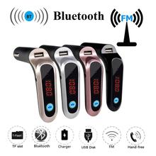 USB TF Card Support font b Charger b font Wireless Bluetooth Car Kit LCD Hands Free