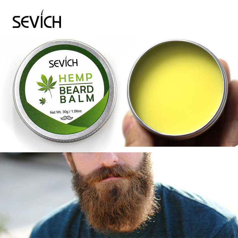 Sevich 30g Hemp Beard Balm Natural Conditioner Balm For Beard Growth And Organic Beard Care Moisturizing Smoothing Long-Lasting