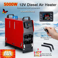 Renoster Air Parking Warmer Portable 8KW 12 car Heater Diesel Air Heater All In 1 LCD 4 Holes Monitor For Truck Camper Van Boat