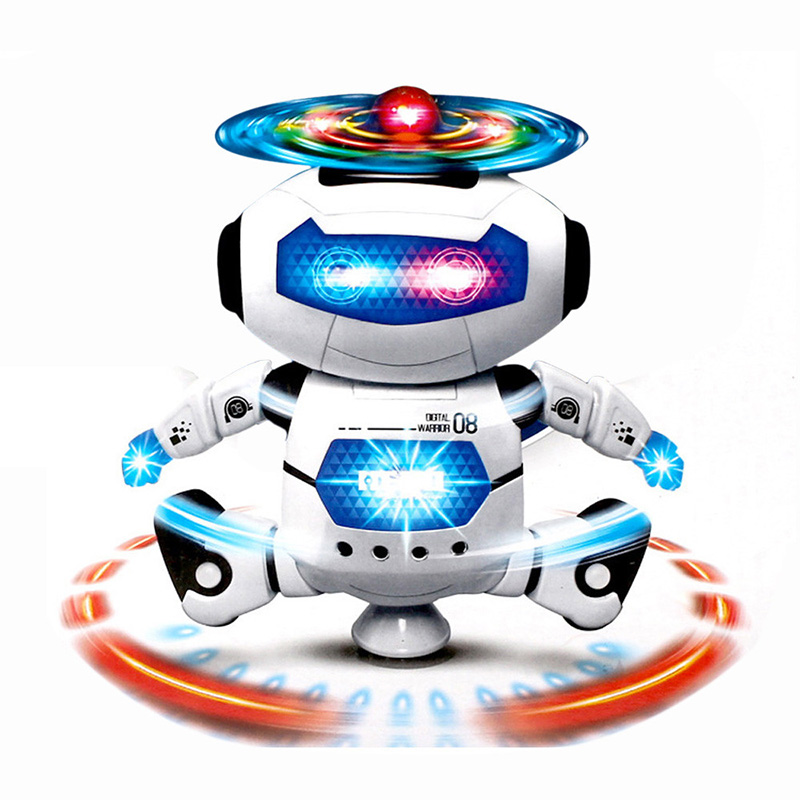 Electronic Robot Walking Dancing Singing Robot with Musical and Colorful Flashing Lights Body Spinning Robot Toy Gift for Kids image