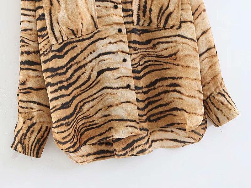 tiger print women blouse 5