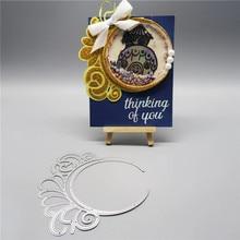 Naifumodo Wreath Flower Dies Circle Metal Cutting Dies New for Card Making Scrapbooking Dies Embossing Cuts Stencil Craft Dies цена