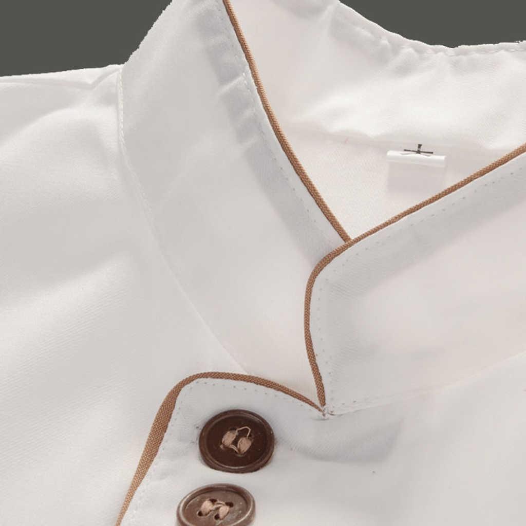 Mutfak şef giyim ceket kaban restoran aşçı üniforma uzun kollu XXXXL