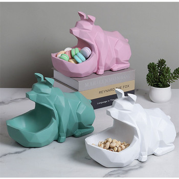Origami Pig Storage Box Statue Simulation Animal Art Sculpture Resin Craftwork Candy Dish Key Storage Home Decorations R2626