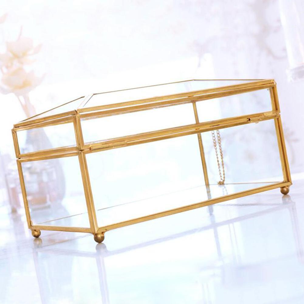 Европейская роскошная коробка для салфеток из золотого стекла для дома, гостиной, косметики, коробка для хранения салфеток с зеркальной крышкой, коробка-держатель для салфеток