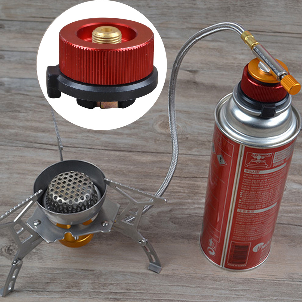 Outdoor Camping Burner Conversion Head Long Flat Tank Gas Bottle Round Converter Gas Stove Connector Adapter Bottle Adaptor Head