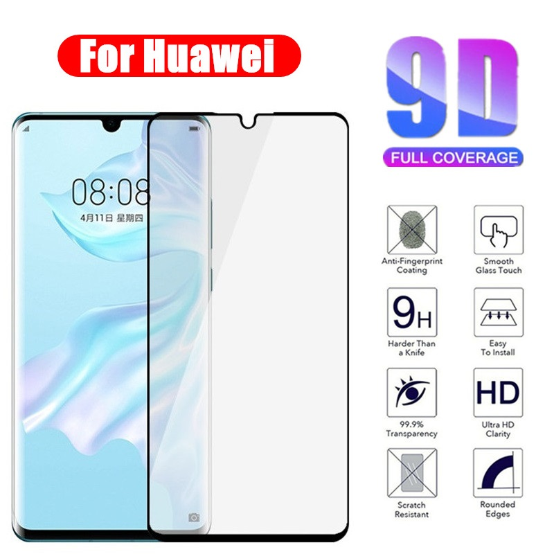 Full Cover 9D Tempered Glass for Huawei P30 P20 Lite Pro Honor 10 20 Lite 10i 20i 8X 9X Pro Screen Protector on film Protective