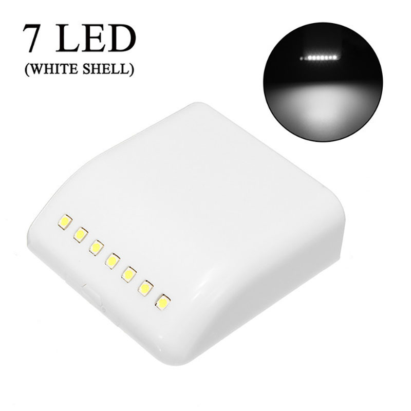7LEDs PIR Motion Sensor Night Lamp Battery Powered Intelligent LED Night Light With Motion Sensor For Wardrobe Drawer Bedroom