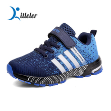 Fashion Sneakers for Kids Boys 2020 Girls Boys School Running Shoes Breathable Kids Sport Shoes Tenis Winter Lace Up 5-12 Years cheap Kitleler Unisex CN(Origin) Mesh (Air mesh) Rubber black red blue green 28-39 boys shoes running kids shoes for girl toddler boy shoes